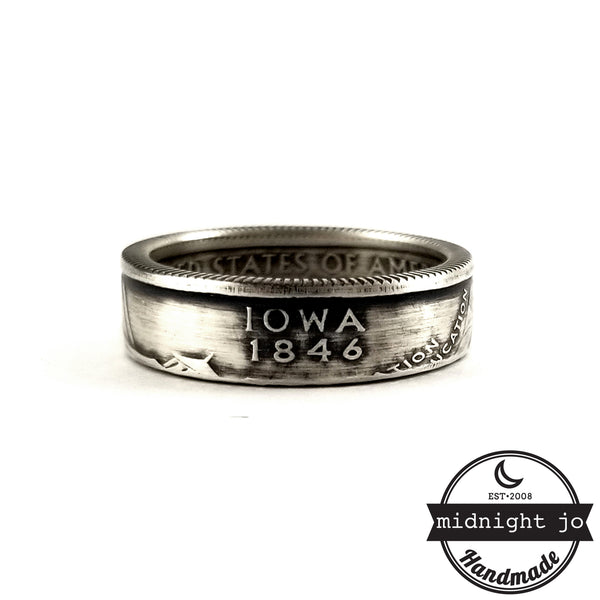 90% Silver Iowa Coin Ring by midnight jo
