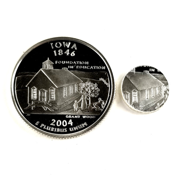 silver iowa proof quarter
