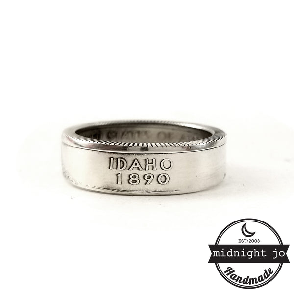 Silver Idaho quarter Ring by midnight jo