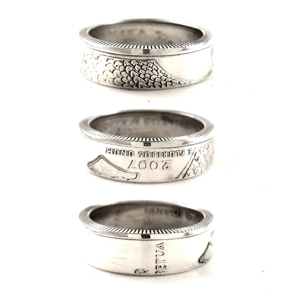 Silver Idaho quarter Coin Ring by midnight jo