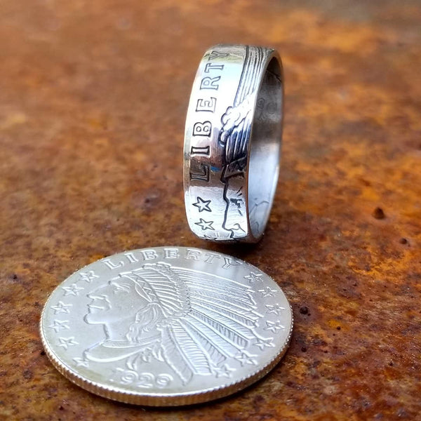 1/4 oz .999 Silver Incuse Indian Coin Ring