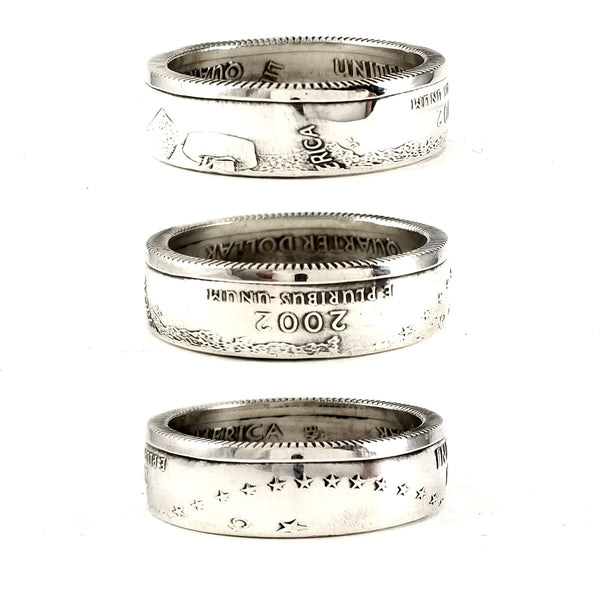 Silver Indiana quarter ring by midnight jo
