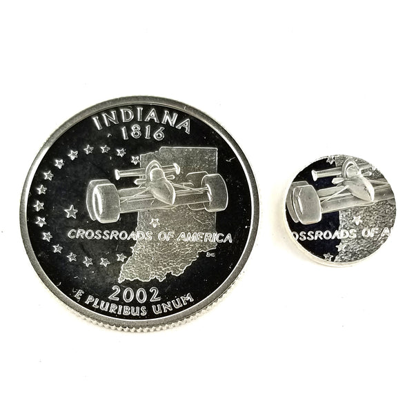 silver indiana proof quarter