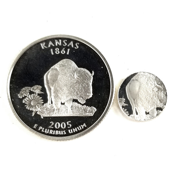 silver kansas proof quarter