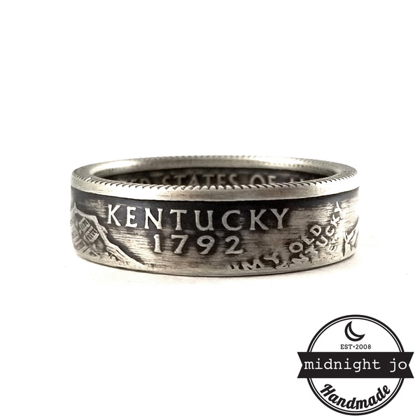 Silver Kentucky Quarter Ring by midnight jo