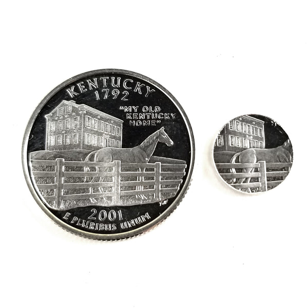 silver kentucky proof quarter