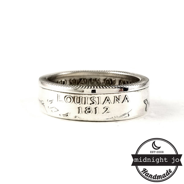 louisiana state quarter coin rings
