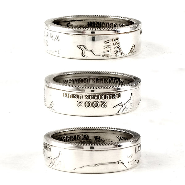 Silver Louisiana Quarter coin Ring by midnight jo