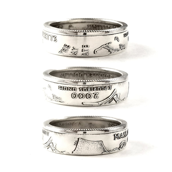90% Silver Maryland Quarter coin Ring by midnight jo