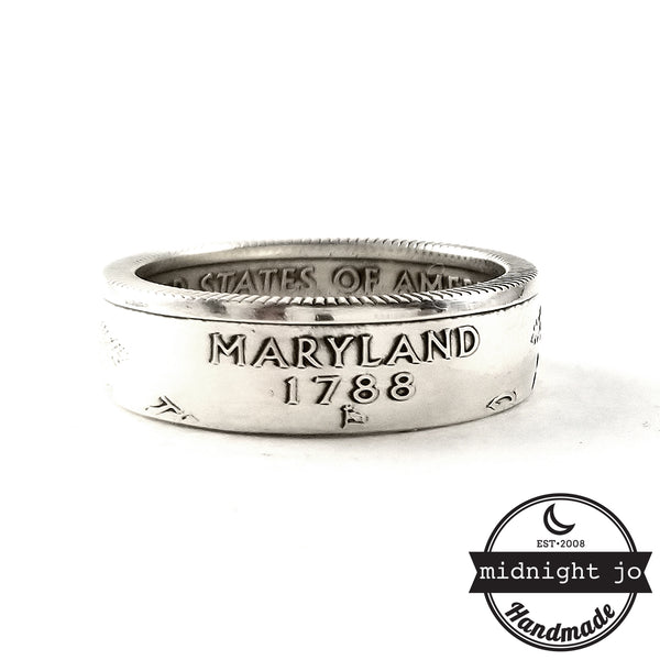 90% Silver Maryland coin Ring by midnight jo