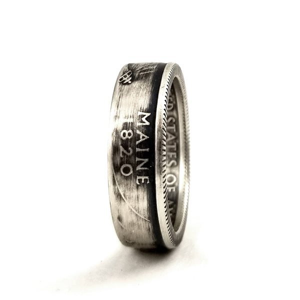 90% Silver Maine Coin Ring by midnight jo