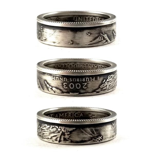 90% Silver Maine quarter Coin Ring by midnight jo