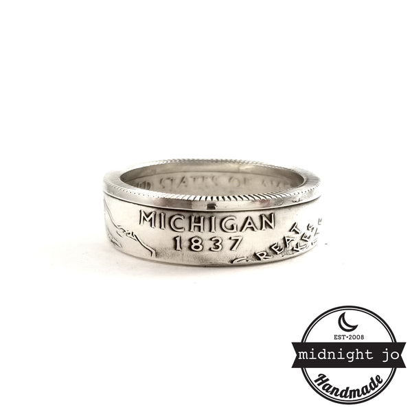 90% Silver Michigan coin Ring by midnight jo