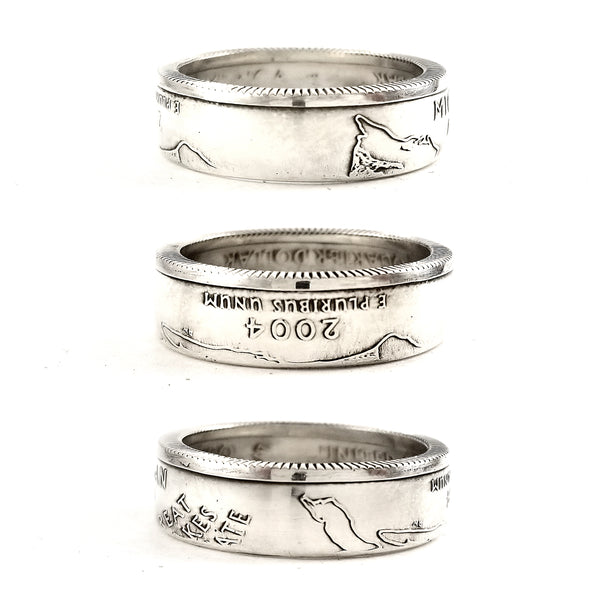 90% Silver Michigan Quarter coin Ring by midnight jo