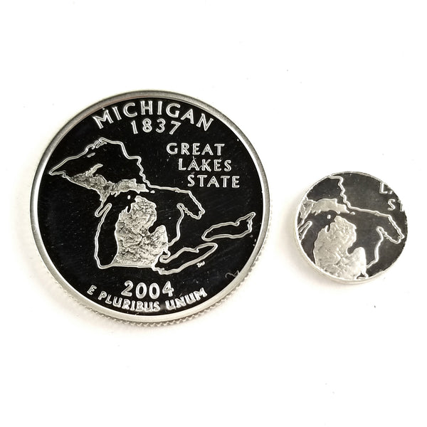 silver michigan proof quarter