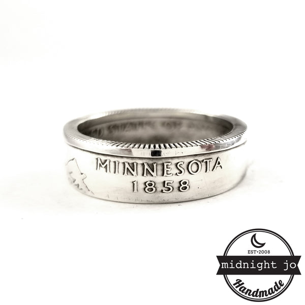 90% Silver Minnesota quarter Ring by midnight jo