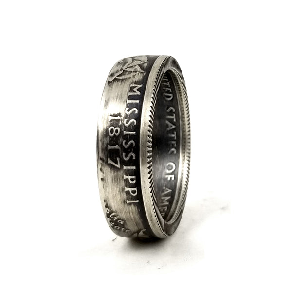 90% Silver Mississippi Quarter Ring by midnight jo