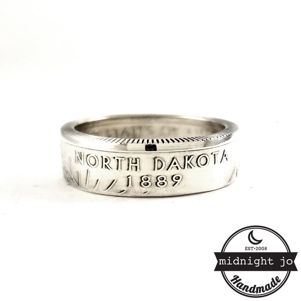 90% Silver North Dakota coin Ring by midnight jo
