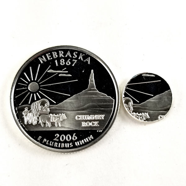 silver nebraska proof quarter