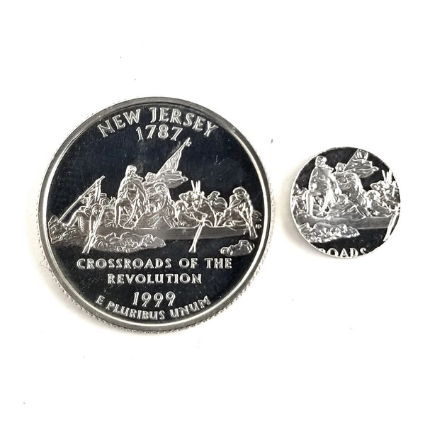 silver new jersey proof quarter and punch out