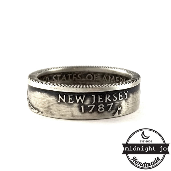 silver new jersey coin ring by midnight jo