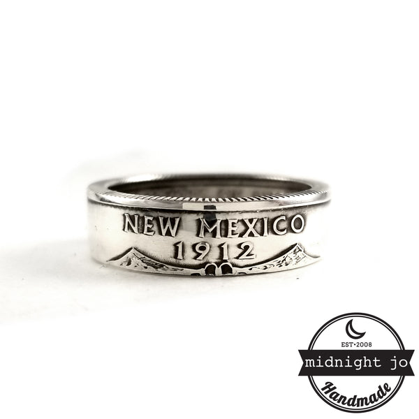 90% Silver New Mexico quarter Ring by midnight jo