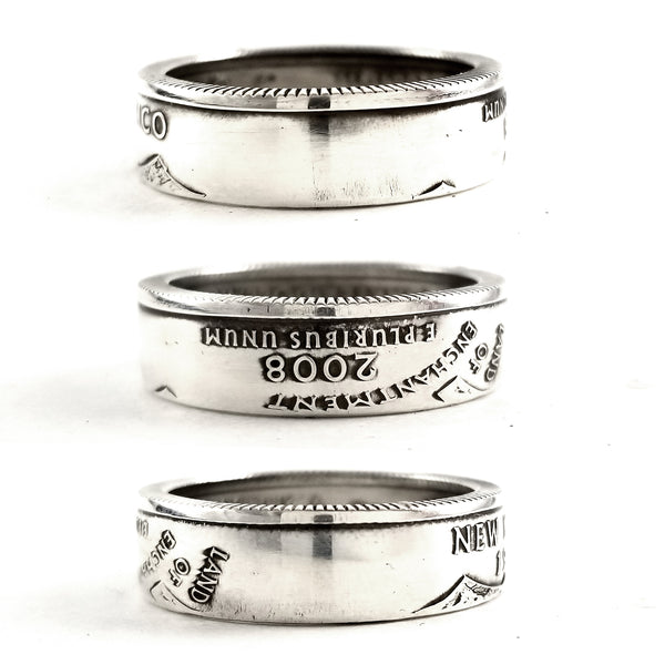 90% Silver New Mexico quarter Coin Ring by midnight jo