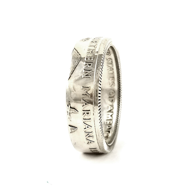 90% Silver Northern Mariana Islands Quarter Ring by midnight jo