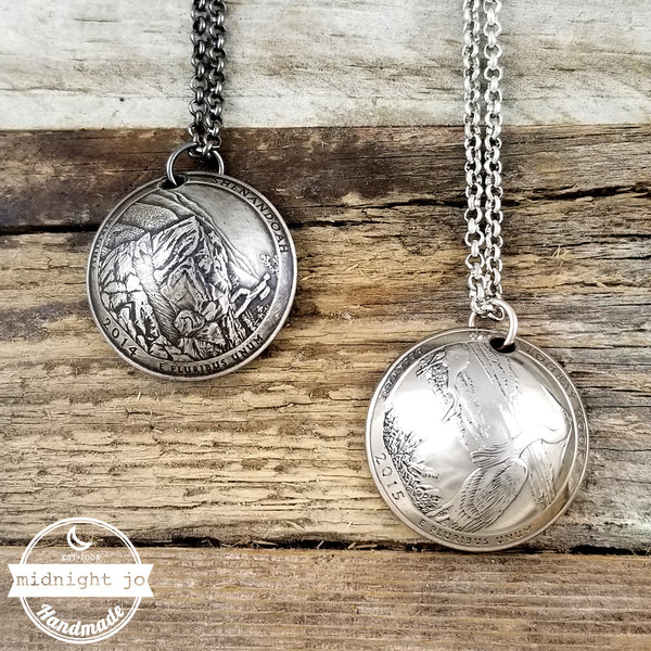 National Park Quarter Domed Coin Necklace