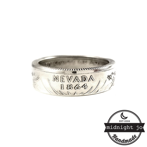 90% Silver Nevada coin Ring by midnight jo