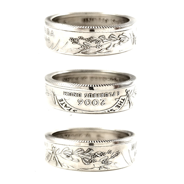 90% Silver Nevada Quarter coin Ring by midnight jo