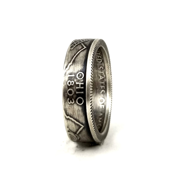 90% Silver Ohio Quarter Coin Ring by midnight jo