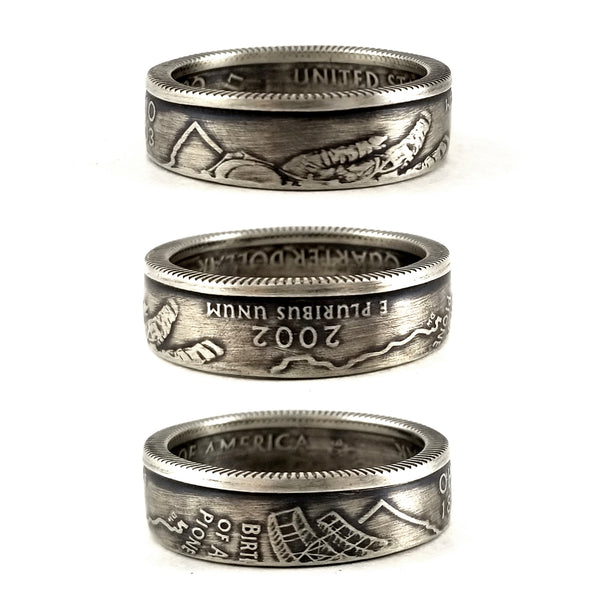 90% Silver Ohio Quarter Ring by midnight jo