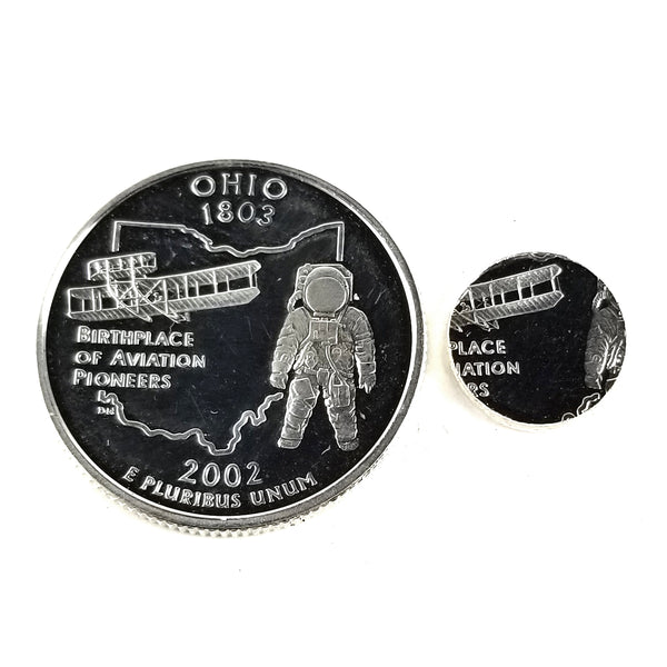 silver ohio proof quarter