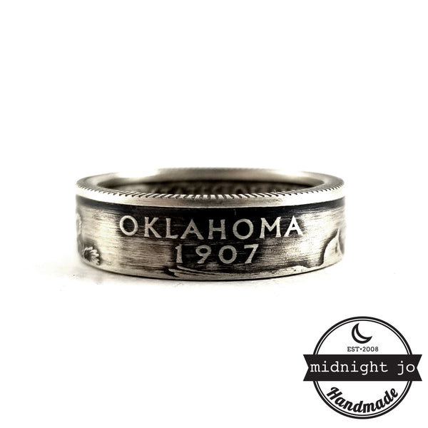 Silver Oklahoma coin Ring by midnight jo