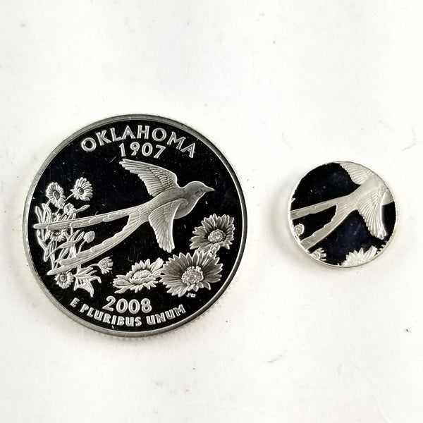 silver oklahoma proof quarter