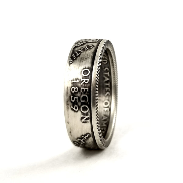 90% Silver Oregon Coin Ring by midnight jo