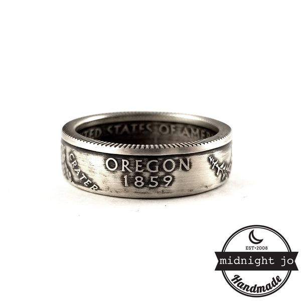 oregon handmade coin ring