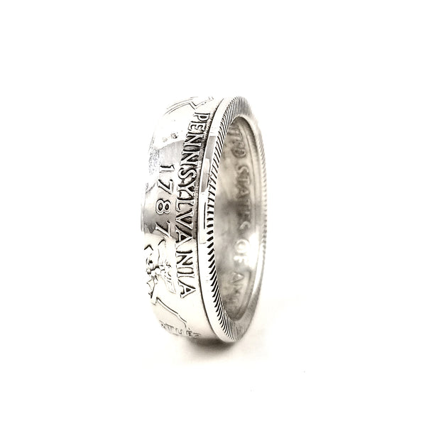 90% Silver Pennsylvania Quarter Ring by midnight jo