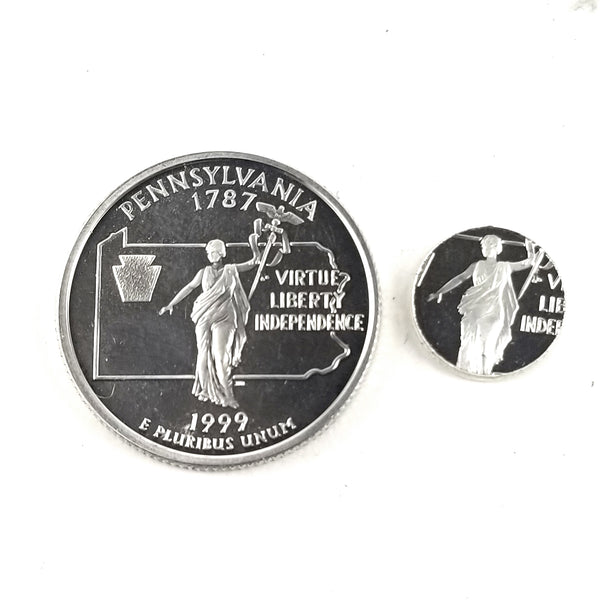 silver pennsylvania proof quarter