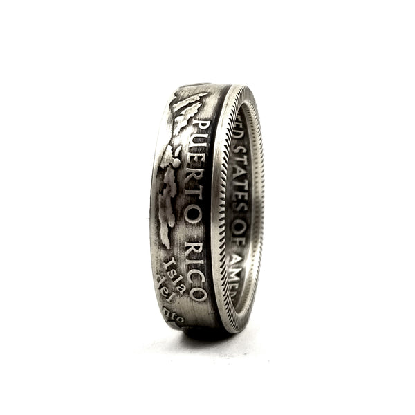 Silver Puerto Rico Quarter Ring by midnight jo