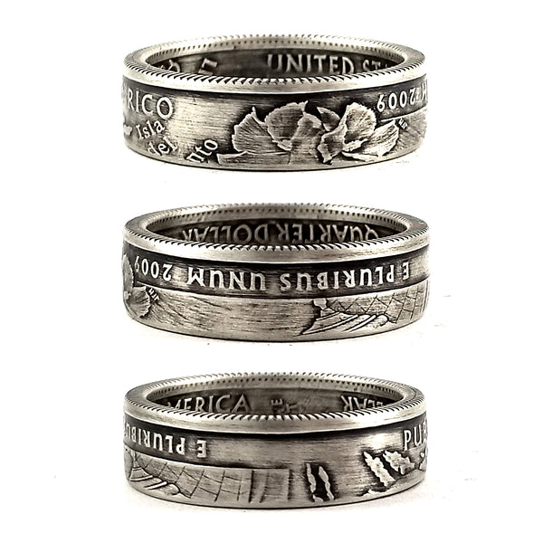 Silver Puerto Rico Quarter coin Ring by midnight jo