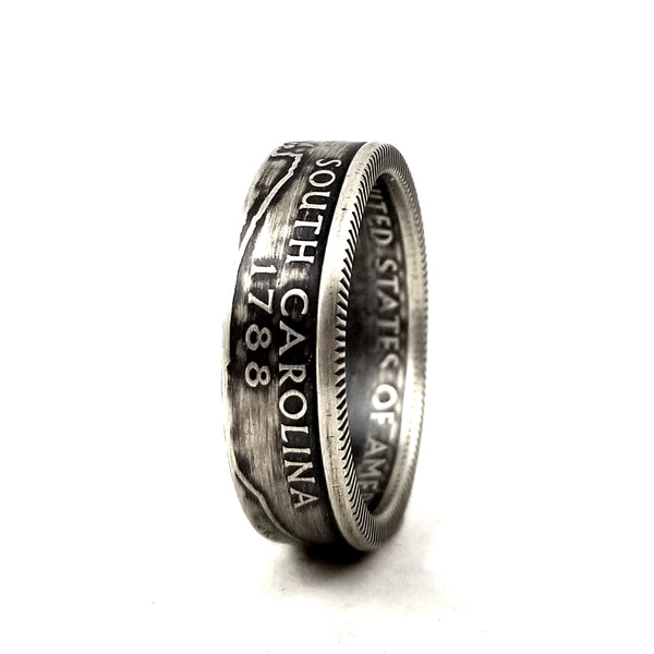 90% Silver South Carolina Quarter Ring by midnight jo