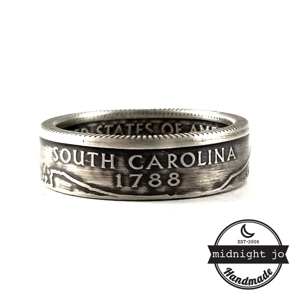 90% Silver South Carolina coin Ring by midnight jo