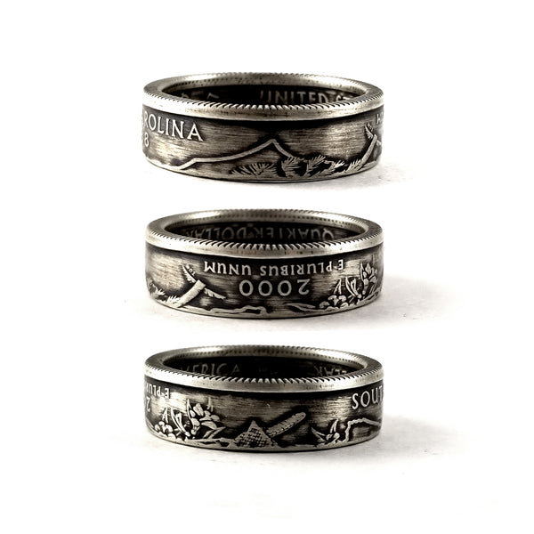 90% Silver South Carolina Quarter coin Ring by midnight jo