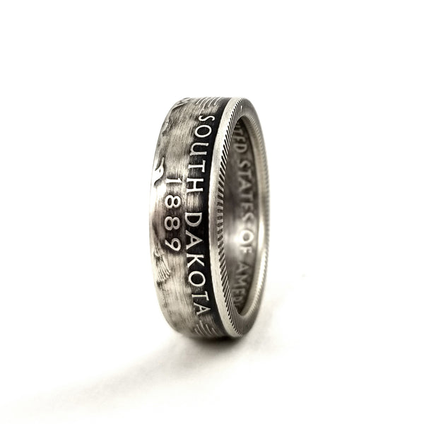 90% Silver South Dakota Coin Ring by midnight jo
