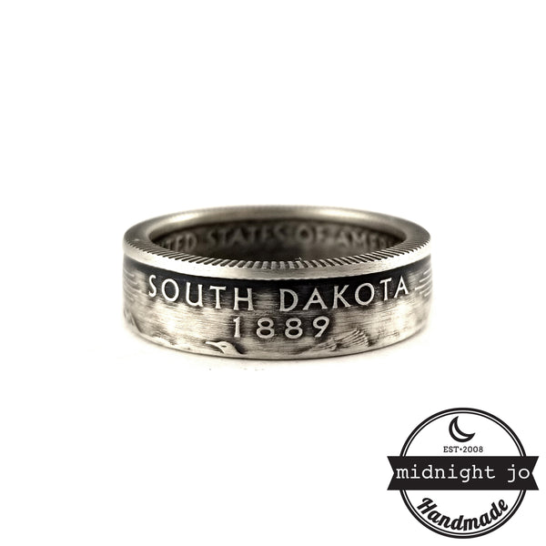 90% Silver South Dakota quarter Ring by midnight jo