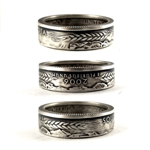 90% Silver South Dakota quarter Coin Ring by midnight jo
