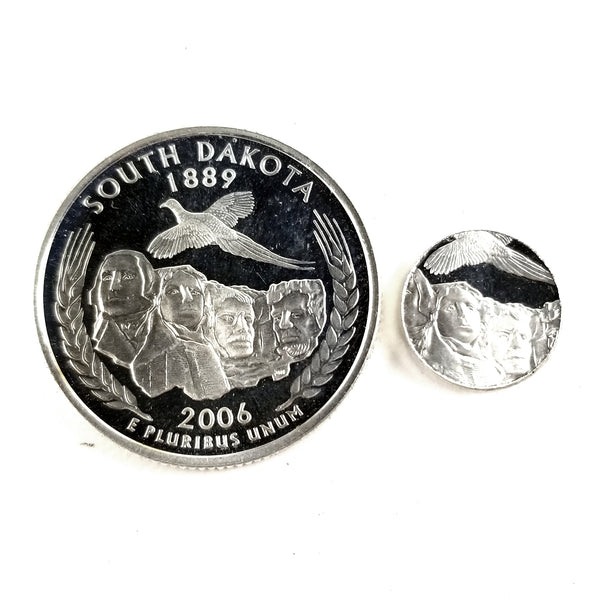 silver south dakota proof quarter