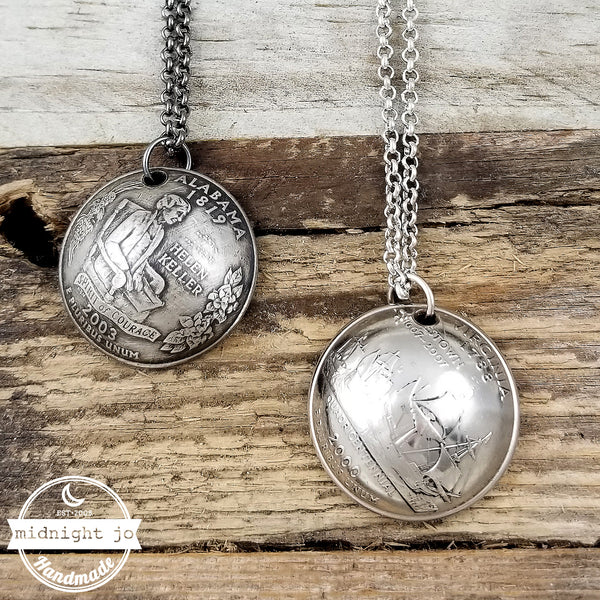 State Quarter Domed Coin Necklace